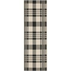 Safavieh Indoor/ Outdoor Courtyard Black/ Bone Rug (2'3 x 10'), $55 each from O.co. Is plaid weird? I really like it, but I can't imagine it on the floor.