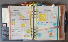 Filofaxing Kikki K Dekoration KW 36 - last summer days colorfully happy multicolored | the blossom's place