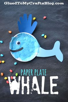 Whale Of A Good Time - Cup {Craft} - Glued To My Crafts Paper Plate Whale - Kid Craft Want fantastic tips on arts and crafts? Head to my amazing website! Preschool Projects, Daycare Crafts, Classroom Crafts, Craft Activities, Preschool Crafts, Spanish Activities, Vocabulary Activities, Learning Spanish, Family Activities