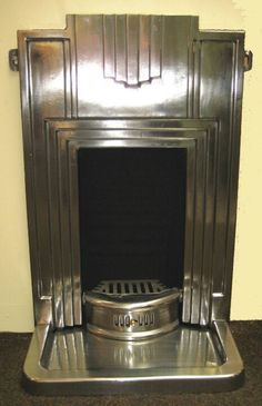 Art Deco Fireplace with a Polished cast Iron Finish. An Art Deco Fireplace with a Polished cast Iron Finish., An Art Deco Fireplace with a Polished cast Iron Finish. Art Deco Decor, Art Deco Design, Retro Design, Design Design, Deco Retro, Retro Art, Retro Chic, Retro Style, Art Nouveau