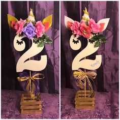 Bello cesto unicorn  centerpiece