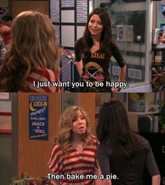 iCarly quote~such a funny show! Jenette Mccurdy, Icarly And Victorious, The Thundermans, Zack E Cody, Drake And Josh, Nickelodeon Shows, Smosh, Old Tv Shows, Movie Quotes