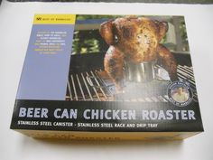 This is absolutely the best way we know of to cook chicken http://www.OutdoorRoomsStore.net/product/7165/Beer-Can-Chicken-Roaster/