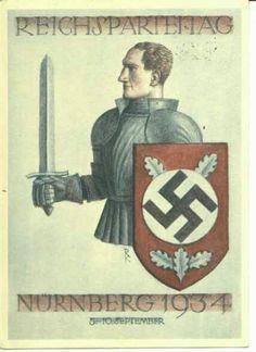 Cartel alegórico del Tercer Reich Alemán.