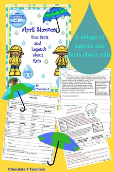 A downpour of fun rain facts and legends. 38 pages of nonfiction passages and printables make planning lessons for April so easy!