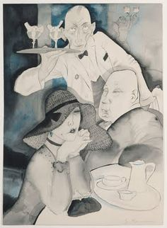 Jeanne Mammen, In the Café, 1920s