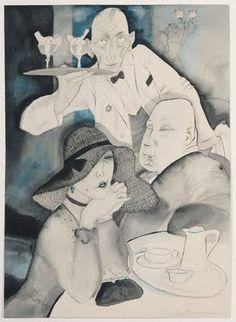 Jeanne Mammen, In the Café, 1920s