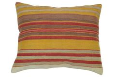 Lumbar Striped Kilim Pillow