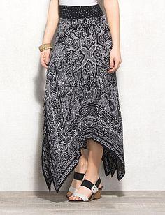 Bandana Print Maxi Skirt