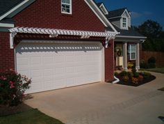 Charmant Garage Door Trellis Or Arbor. A Frame Garage Front. Garage Arbor Before  After Garage Arbor