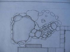 Here are the original plans: The pool features a waterfall, a kiddie pool, a main pool, and a grotto.
