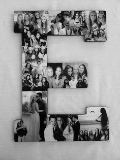 Custom  Photo Collage letter  - Girlfriend gift - College dorm room decor - Wedding on Etsy, $99.95