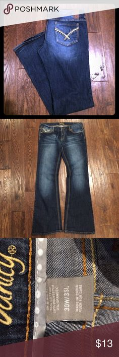 Jeans Jeans. Only worn once or twice. 30W/35L. Great condition Vanity Jeans