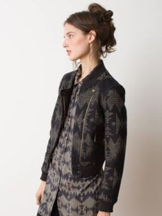 Great twist on the moto-jacket look. Pendleton Woolen Mills: SILETZ JACKET