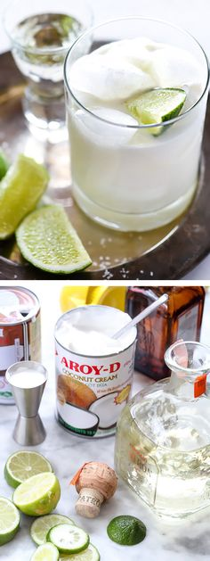 The Best Coconut Margarita Recipe, made with coconut cream and coconut milk and just a touch of simple syrup | foodiecrush.com