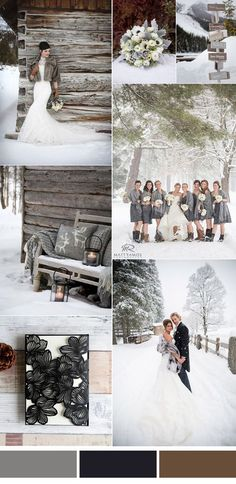 stylish grey winter wedding color inspiration