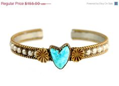 On+Sale+Vintage+Navajo+Sterling+Silver+Turquoise+by+Yourgreatfinds,+$124.00