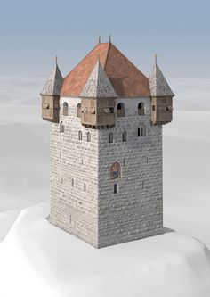 Medieval Houses, Medieval Castle, Medieval Fantasy, Tower House, D House, Minecraft Medieval Tower, Scotland Castles, Fantasy Castle, Travel Oklahoma