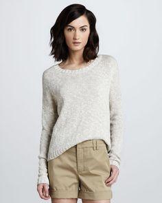 Vince Rib Trim Knit Sweater