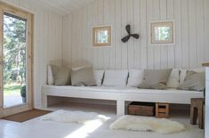 Sauna Design, Common Room, Cottage Design, Daybed, Entryway Bench, Beach House, Mall, Cabin, Interior