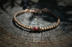 Bracelet Grenat et cuivre par AtelierHanakoStone sur Etsy