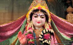 To view Radha Close Up Wallpaper of ISKCON Houston in difference sizes visit - http://harekrishnawallpapers.com/sri-radha-close-up-iskcon-houston-wallpaper-007/