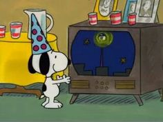 Snoopy watching ball fall Happy NewYear