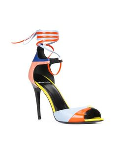 COLOUR BLOCK STILETTO SANDALS bu Pierre Hardy