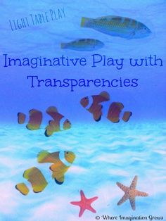 A fun way to encourage imaginative play on the light table! Check out how we made our farm and ocean small world play from overhead transparencies! Ocean Activities, Quiet Time Activities, Playroom Design, Kid Playroom, Kids Room, Ocean Projects, Girls Bedroom Furniture, Light Board, Teen Bedroom Designs