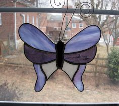 Stained Glass Butterfly Suncatcher various by StainedGlassYourWay, $20.00