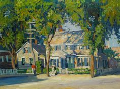 Jane Peterson  Old Houses, Cape Ann, Massachusetts