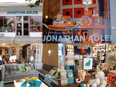 Jonathan Adler is a modern home decor and furniture store located in downtown Westport.  This store is amazing at assisting customers in interior design as well as having the tools to do so.