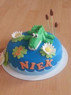 Krokodillen taart/alligator cake