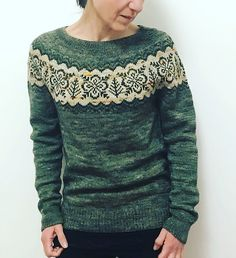 Ravelry: Project Gallery for Silver Forest pattern by Jennifer Steingass Knitting Charts, Knitting Stitches, Baby Knitting, Icelandic Sweaters, Fair Isle Knitting, Sweater Design, Knitting Accessories, Ravelry, Knitwear