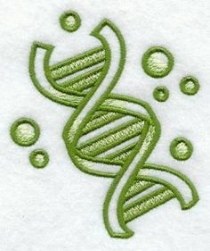 How about a beautiful DNA embroidered Hand or dish towel for the scientist in your life (or for yourself).