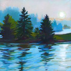 """""""Sundown Sisters"""" oil on Linen 16"""" x 16"""" Painted in Deer Isle, Maine fall 2013.  FMI- www.janetledoux.com"""