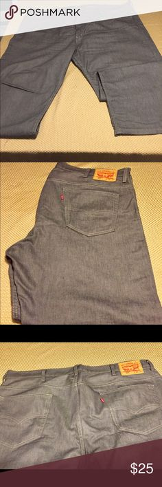 Levi's 569 Button-Fly Grey Jeans Levi's 569 Button-Fly Grey Jeans 42 x 30. They've were worn twice. They are loose fitting jeans. Lost a lot of weight, pants fit really big. Levi's Jeans Relaxed