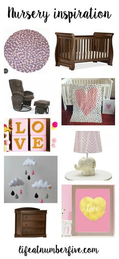 The things I'm loving and wanting for my little girl's nursery via Life at Number Five