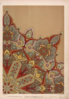 NYPL Digital Gallery  Ornament in the arabian style, intended to be painted in the centre [sic] of a ceiling. ([1876])
