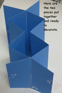 Cascading Card Tutorial - bjl by colleen Card Making Templates, Card Making Tutorials, Card Making Techniques, Tri Fold Cards, Fancy Fold Cards, Folded Cards, Cascading Card, Karten Diy, Step Cards