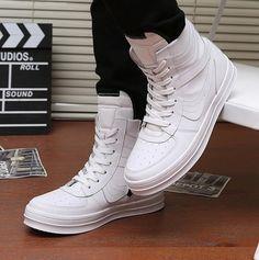 super popular c95ac 98fa0 2014 new dance shoes men hip hop shoes Hot sale men s sneakers Black White  Free