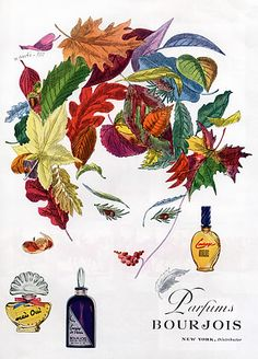 Bourjois (Perfumes) 1946 Mais Oui, Courage, Evening in Paris, Xanti Pat
