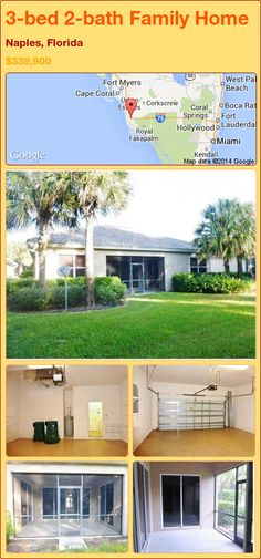 3-bed 2-bath Family Home in Naples, Florida ►$339,900 #PropertyForSale #RealEstate #Florida http://florida-magic.com/properties/74795-family-home-for-sale-in-naples-florida-with-3-bedroom-2-bathroom