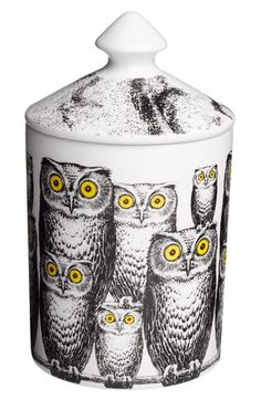 Fornasetti 'Civette - Otto' Lidded Candle available at #Nordstrom
