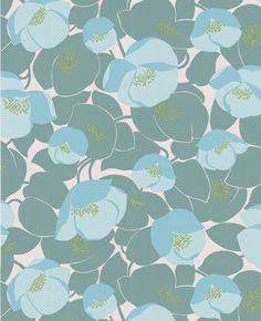 Field Poppies - ocean color way