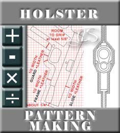 How to make holster. A gun holster pattern is much the same as many other types of leather case, and can be made using the same basic principles of layout. 1911 Holster, Kydex Holster, Leather Diy Crafts, Leather Projects, Diy Leather Holster, Leather Working Patterns, Custom Holsters, Backpack Pattern, Leather Tooling