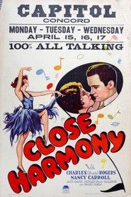 """Close Harmony. Charles """"Buddy"""" Rogers, Nancy Carroll, Jack Oakie, Richard """"Skeets"""" Gallagher. Directed by John Cromwell and A. Edward Sutherland. Paramount. 1929"""