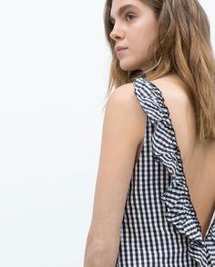 ZARA - WOMAN - DRESS WITH BACK FRILL