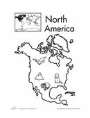 A great way to introduce your child to continents is to start with North America. Color in the continent and the animals living on it.