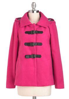 Pink Performance Coat, #ModCloth $84.99